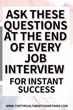 The best questions to ask during a job interview - 12 questions here! Questions to ask after an interview, Questions to ask an interview, how to interview for a job, job interview tips for women, job