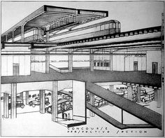 RNDRD is a frequently-updated partial index of architectural drawings and models scanned from design publications throughout the century. Lanscape Design, Richard Neutra, Modern Architects, Photoshop, Lloyd Wright, Le Corbusier, Beautiful Drawings, Art And Architecture, Mid-century Modern
