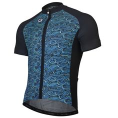 """Swell"" Cycling Jersey Men's - Artist Series by Gregory Klein"