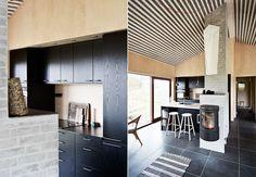 Naturnær hytte i moderne rammer Modern Barn House, Divider, Loft, Furniture, Home Decor, Ceiling, Modern, Decoration Home, Ceilings