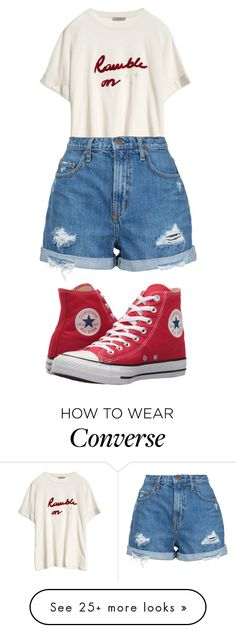 """Untitled #718"" by foxessx on Polyvore featuring Nobody Denim and Converse"