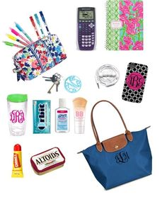 """""""What is in My School Bag??"""" by katekinder on Polyvore. Good things to have in your bag for testing."""