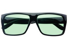 Retro Style Square Flat Top Sunglasses Black FT321