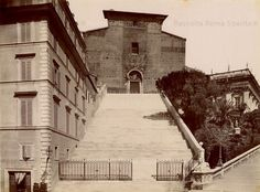 Ara Coeli Anno: 1876 ca Bella Roma, Best Cities In Europe, Old Photos, Rome, Paris, Landscape, History, World, Rolodex