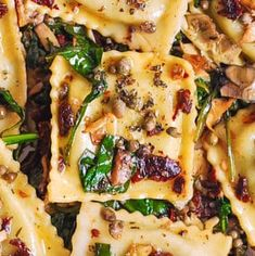 Italian Ravioli with Spinach, Artichokes, Capers, Sun-Dried Tomatoes - Julia's Album