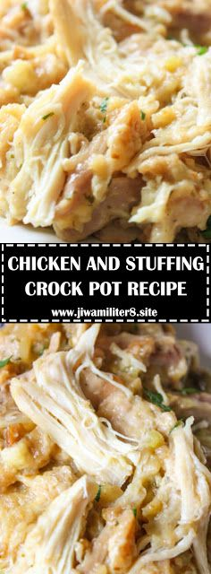 CHICKEN AND STUFFING CROCK POT RECIPE - #recipes