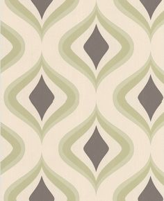 Trippy: Lime & Chocolate Wallpaper from www.grahambrown.com-for cabinet
