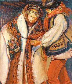 Polska Art Timeline, Composition Painting, Polish Folk Art, Wedding Painting, Ukrainian Art, Paintings I Love, Religious Art, Book Illustration, Art Techniques