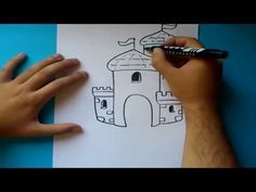 ▶ Como dibujar un castillo paso a paso 2 | How to draw a castle 2 - YouTube