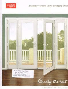 Ultra out swing french door by milgard windows and doors for Milgard energy efficient windows
