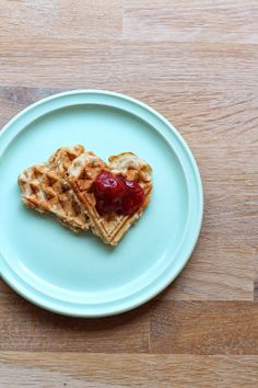 Waffels with jam your way, its all ok! #kvelds, The meal before bed.