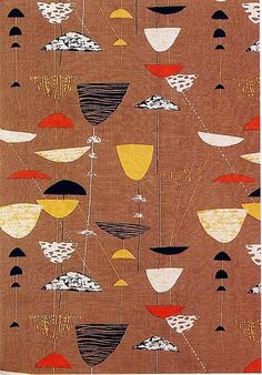 Calyx' textile design by Lucienne Day for Heal's, 1951