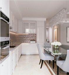 New apartment kitchen interior sinks Ideas Apartment Kitchen, Apartment Interior, Apartment Design, Home Interior, Luxury Kitchen Design, Luxury Kitchens, Interior Design Living Room, Home Building Design, House Design