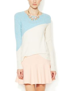 Elorie Cashmere Diagonal Colorblocked Sweater € 290,05