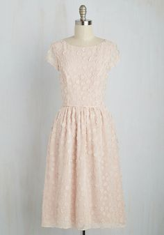 Bridesmaid Proposal Dress - Pink, Solid, Flower, Special Occasion, Bridesmaid, A-line, Short Sleeves, Spring, Woven, Best, Exclusives, Wedding, Long