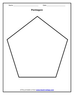 Free printable pentagon templates. Use these blank