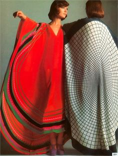 Vogue 1970s ethnic caftan dresses