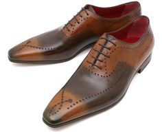 Handmade Men's Leather Oxfords Two Tone Brown Formal Dress Magnificent Men's Shoes, Shoe Boots, Dress Shoes, Shoes Men, Men Dress, Cowhide Leather, Leather Men, Leather Shoes, Cordovan Shoes