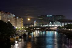 Friedrichstrasse by night by Juska Wendland, via Flickr