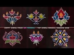 Best rangoli designs 2018 for diwali - If you're searching for the best diwali rangoli designs with colours, then you've landed on the right video. Best Rangoli Design, Indian Rangoli Designs, Rangoli Designs With Dots, Rangoli With Dots, Kolam Designs, Diwali Rangoli, Easy Rangoli, Small Rangoli, Birthday Cake With Candles