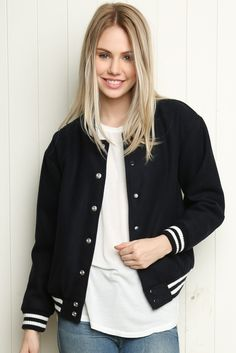 Brandy ♥ Melville | Carrie Bomber Jacket - Clothing