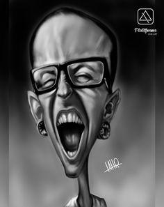 Tribute to Chester Bennington - LP  #chesterbennington #artist #singer #linkinpark #lp #band #rock #music #caricature #art #arts #draw