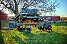 The Pumpkin Stand Art Print by Bonfire Photography. All prints are professionally printed, packaged, and shipped within 3 - 4 business days. Farmers Market Display, Market Displays, Vegetable Stand, Pumpkin Display, Produce Stand, Food Truck, Market Stands, Farm Store, Garden Stand