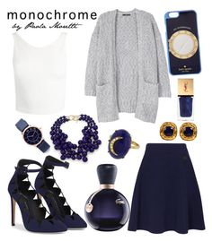 """Night blue Style by Paola Moretti"" by paola-moretti on Polyvore featuring Lacoste, Sans Souci, Kenneth Jay Lane, Kenzo, MANGO, Kate Spade, Andrea Fohrman, Chanel, Marc Jacobs and Yves Saint Laurent"