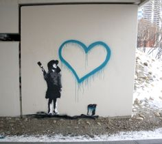 heart street art graffiti urban art murales Work of Heart