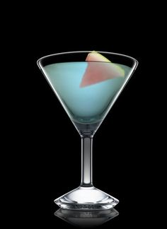 Ole' - Fill a mixing glass with ice cubes. Add all ingredients. Stir and strain into a chilled cocktail glass. Garnish with melon. 1 Part Tequila, 1 Part Banana Liqueur, 2 Dashes Blue Curacao, 1 Slice Melon