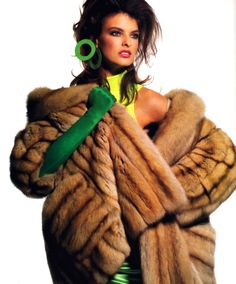 Irving Penn for American Vogue, December 1987. Coat by Saks Jandel.