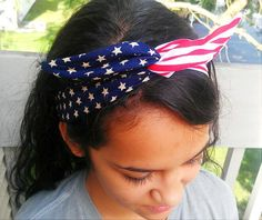 Hey, I found this really awesome Etsy listing at https://www.etsy.com/listing/155764939/patriotic-american-flag-dolly-bow-head