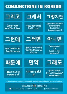Learn Korean: Conjunctions in Korean
