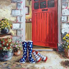 Home - Roisin O'Farrell Art Shoes, Shoe Art, Colorful Paintings, Painted Shoes, Set Design, Background Images, Porches, Amazing Art, Oil On Canvas