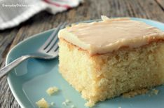 Vanilla cake with brown butter glaze recipe