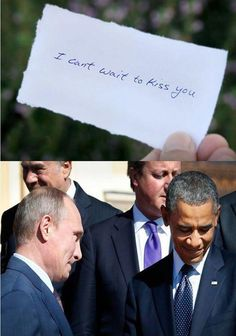 Putin Obama = Love So cute.