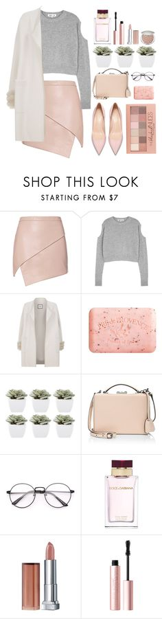 """Sans titre #233"" by never-say-never1d ❤ liked on Polyvore featuring Michelle Mason, McQ by Alexander McQueen, Max & Moi, Pré de Provence, Abigail Ahern, Mark Cross, Maybelline, Dolce&Gabbana and Too Faced Cosmetics"