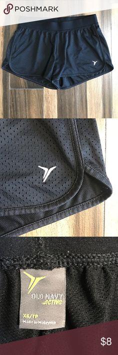 Ladies XS Old Navy black mesh shorts. Look new! These shorts from Old Navy still look new. Black size XS. Old Navy Shorts