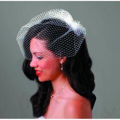 David Tutera Wedding Collection - Bird Cage Veil With Comb #koyalwholesale #koyallovestutera  @Elyse Potwora i want this...lol