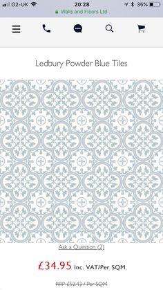 Tiled Hallway, Downstairs Loo, House Tiles, Blue Rooms, Hallway Ideas, Hallways, Color Splash, Floors, Tile Floor