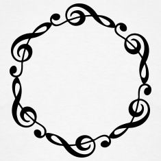 treble clef mandala | music notes violin clef frame your text t shirts Music Silhouette, Music Ornaments, Music Drawings, Music Worksheets, Wood Burning Patterns, Music Tattoos, Treble Clef, Original Music, Heart Cards