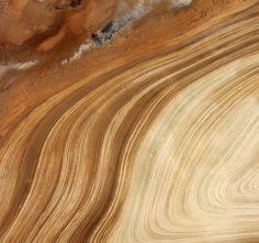 Sanddünen in der Salzwüste, Iran