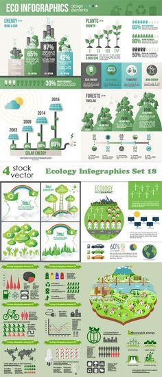 Vectors - Ecology Infographics Set 18
