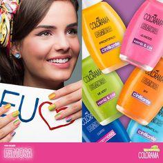 A nova coleção Famosa traz 6 cores super alegres e vibrantes!