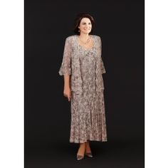 Ann Balon Allegrina Dress and Jacket In Cappuccino