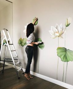 Home Decor Accessories Wall Painting Decor, Mural Wall Art, Bedroom Murals, Bedroom Wall, Art Mur, Wall Drawing, Paint Designs, Home Decor Accessories, Walls