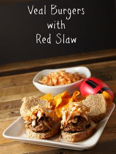Veal Sliders with Red Slaw