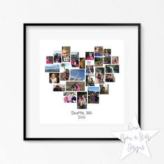 Anniversary Gift Ideas For Him Discover Family Heart Storyboard 25 Image Collage Photographer Template Customizable Photo Collage Photo Collage Photoshop, Photo Collage Board, Collage Foto, Heart Collage, Love Collage, Image Collage, Photo Collage Template, Collage Frames, Photo Collages