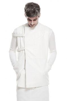 Florian Wowrewtzko lamb leather straight jacket
