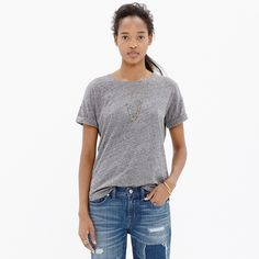 Whisper Cotton Crewneck Tee : AllProducts | Madewell